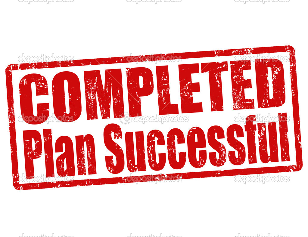 completed plan successful stamp  u2014 stock vector