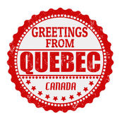 Greetings from Quebec label — Stock Vector