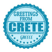 Greetings from Crete label — Stock Vector