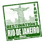 Bir Rio de janeiro damgası — Stok Vektör