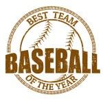 Baseball stamp — Stock Vector