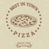 Best in town pizza poster — Vector de stock
