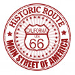 Historic Route 66, California stamp — Stock Vector