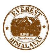 Mount Everest stamp — Stock Vector