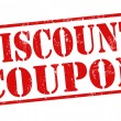 Discount coupon stamp — Stok Vektör