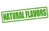 Natural flavors stamp — Stock Vector