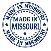 Made in Missouri stamp — Stock Vector