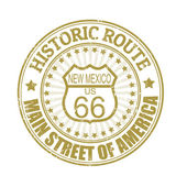 Historische route 66, new-mexico-stempel — Stockvektor