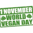 World vegan day stamp — Stock Vector