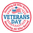 Vector de stock : Veterans Day stamp