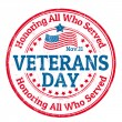 Veterans Day stamp — Stock Vector