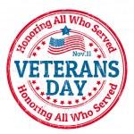 Veterans Day stamp — Stock Vector