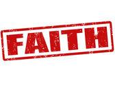 Faith stamp — Stock Vector