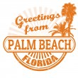 Stock Vector: Greetings from Palm Beach stamp
