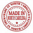 Made in North Carolina stamp — Vettoriale Stock
