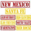 New Mexico Cities stamps — Stock Vector