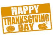 Happy thanksgiving day stamp — Stok Vektör