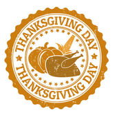 Thanksgiving Day stamp — Stock Vector