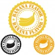 Banana flavor stamps — Stock Vector