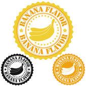 Banana flavor stamps — Stock Vector