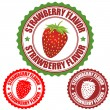 Strawberry flavor stamp — Stock Vector