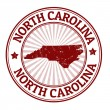 North Carolina stamp — Vettoriali Stock