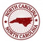 North Carolina stamp — Stock Vector
