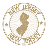 New Jersey stamp — Stock Vector
