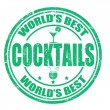Cocktails stamp — Vector de stock #34953697