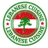 Lebanese Cuisine stamp — Stock Vector