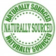 Naturally sourced stamp — Stock Vector
