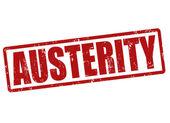 Austerity stamp — Stock Vector