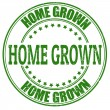 Home Grown stamp — Stockvectorbeeld