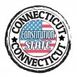 Connecticut, Constitution state stamp — Stock Vector