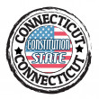 Stock Vector: Connecticut, Constitution state stamp