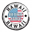 Hawaii, Aloha state stamp — Stock Vector
