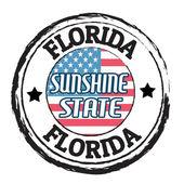 Florida, sluneční stát razítko — Stock vektor