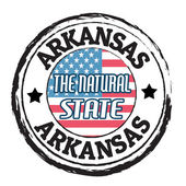 Arkansas, The natural state stamp — Stock Vector