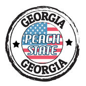Georgia, Peach state stamp — Stock Vector