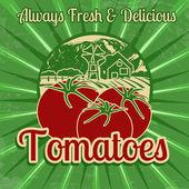 Pôster vintage tomates — Vetor de Stock