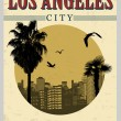 Stock Vector: Los Angeles poster