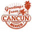 Greetings from Cancun stamp — Stock Vector