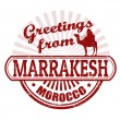Greetings from Marrakesh stamp — Stock Vector