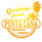 Greetings from Punta Cana stamp — Stock Vector