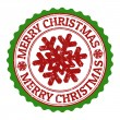 Merry Christmas stamp — Vettoriali Stock