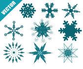Set of vectors snowflake — Stock vektor