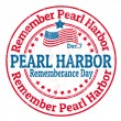 Stock Vector: Pearl Harbor Rememberance Day stamp