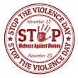 Stok Vektör: Stop the Violence Day stamp