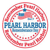 Pearl Harbor Rememberance Day stamp — Stock Vector