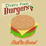 Burgers poster — Stock Vector